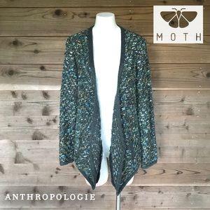 Moth by Anthropologie asymmetrical cardigan Sz Sm